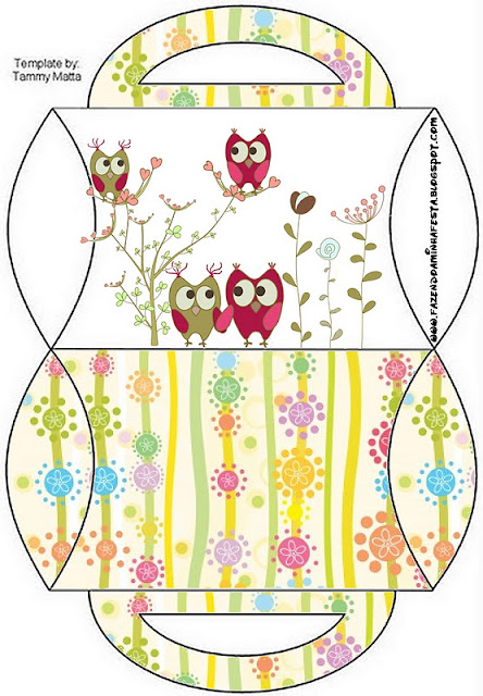Owls Couple Free Printable Boxes Oh My Fiesta! in english