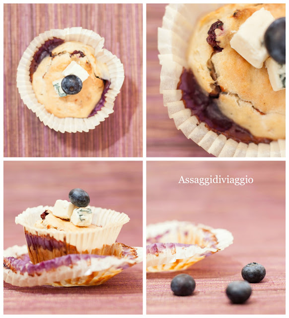 Blue cheese and blueberry muffins (Muffins gorgonzola e mirtilli)