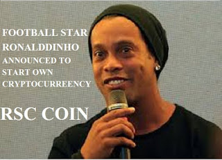 Brazilian footballer Ronaldinho launches his own cryptocurrency (RSC)