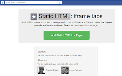 Static HTML facebook