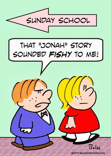Funny Sunday School Heaven Jonah Fishy Joke Cartoon