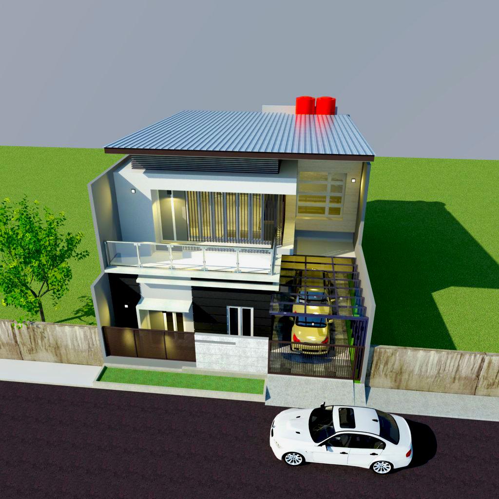 Harga Jasa Desain Interior Cafe: Desain Rumah Type 250 Milik Pak Mappanai , Gowa