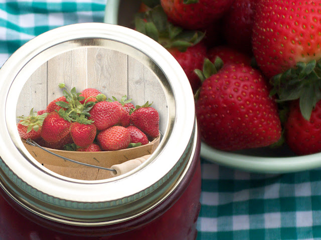 market fresh strawberry canning labels