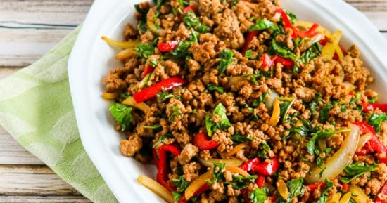 Kalyn S Kitchen 174 Thai Inspired Ground Turkey Stir Fry With Basil And Peppers