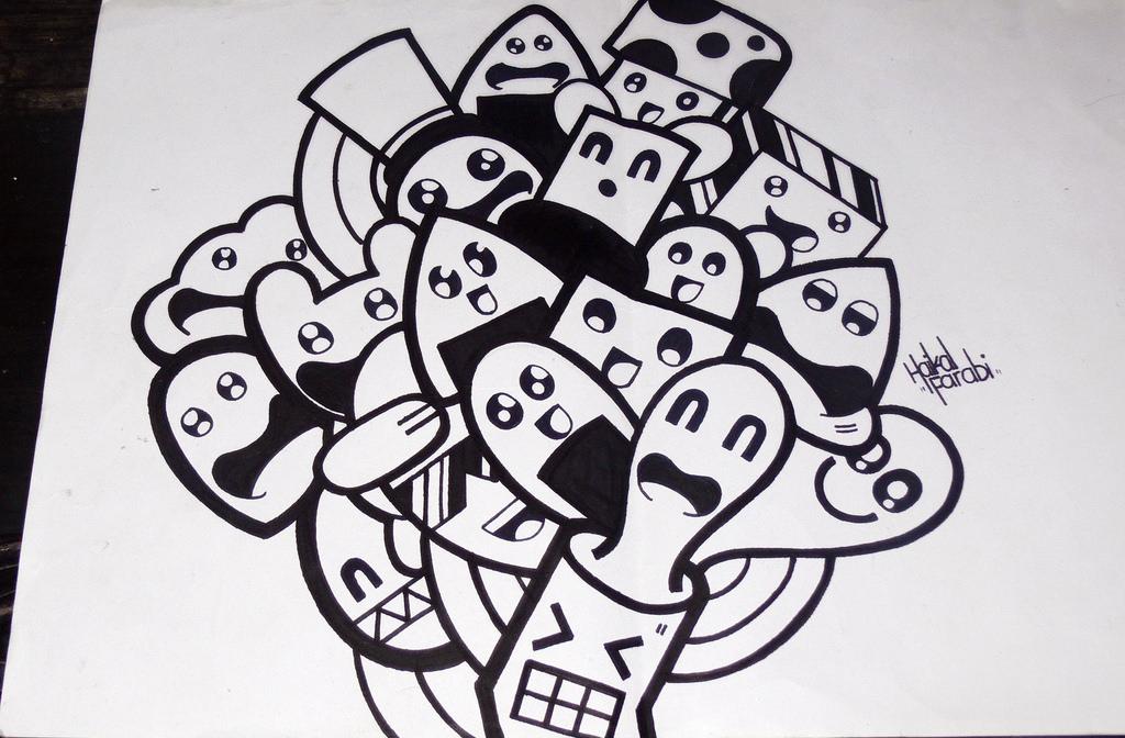 Gambar Doodle Art Simple Sederhana