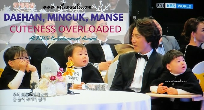 Daehan, Minguk, Manse Cuteness Overloaded At KBS Entertainment Award 2015