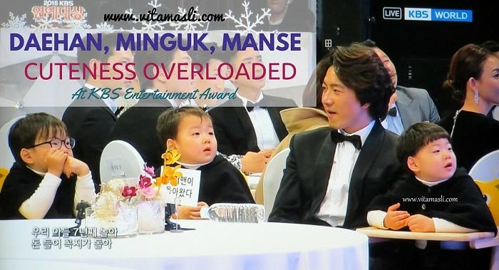 Daehan, Minguk, Manse Cuteness Overloaded At KBS Entertainment Award 2015