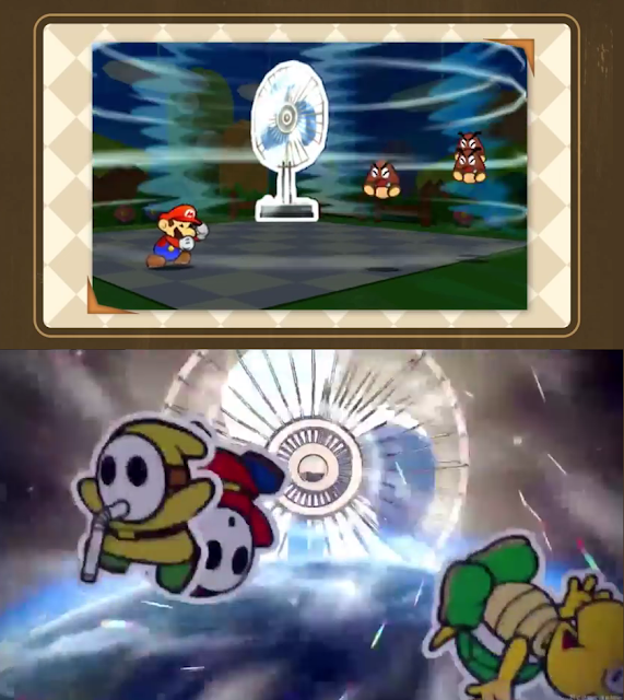 Paper Mario Sticker Star fan Thing Color Splash card electronic cooling plugin item