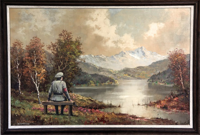 The Banality Of The Banality Of Evil For Better Out Than In - Banksy Returns An Original Canvas To Housing Works Thrift Shop In New York City. 1