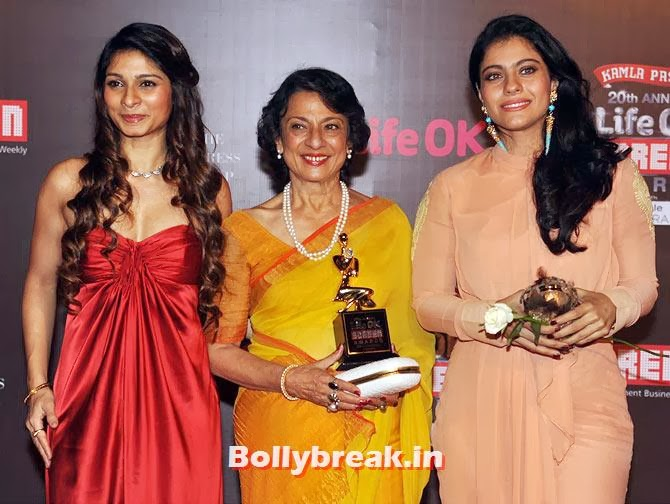 Tanisha, Tanuja and Kajol, Life Ok Screen Awards 2014 Red Carpet Photos