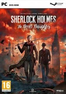 غلاف لعبة ابنة شيرلوك هولمز الشيطان