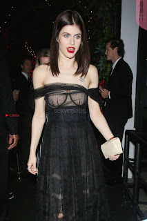 Alexandra Daddario Showing off her  in transparent top at Dior Addict Lacquer Pump Launch ~ Celebs.in Exclusive 005.jpg