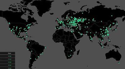 Mapa Ciberataques entre paises