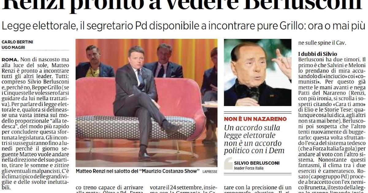 Alassiofutura roma matteo renzi pronto a vedere silvio for Diretta da montecitorio