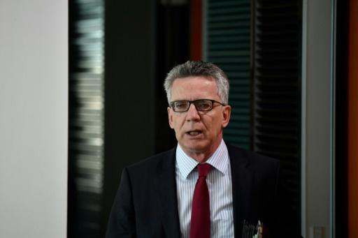 Le ministre de l'Intérieur allemand   Thomas de Maizière, le 28 juin 2017 à Berlin © John MACDOUGALL AFP