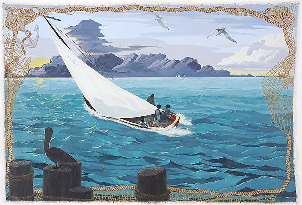 Gulf Stream (2003) by Kerry James Marshall