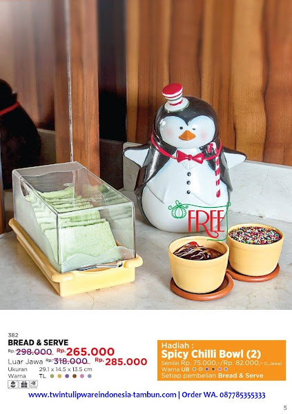 Promo Diskon Tulipware Desember 2017, Bread Serve