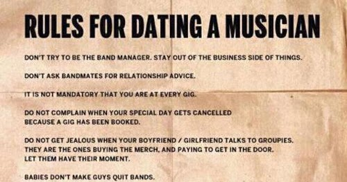 Dating a musician advice