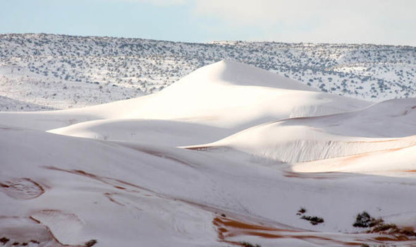Rare snowstorm hits the Saudi Arabian desert Sahara-Desert-snow-Ain-Sefra-Algeria-901733