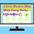 3 Jenis Desain Situs Web Yang Perlu Diketahui