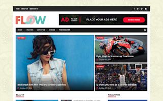 Flow magazine blogger template responsive