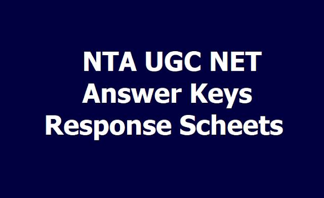 NTA UGC NET Answer keys