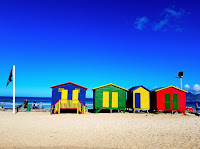 Muizenberg beach-side suburb of Cape Town, South Africa
