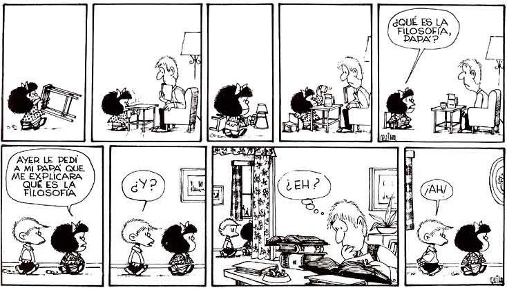 Haciendo rondas . . .: Mafalda: Qué es la Filosofía by Quino