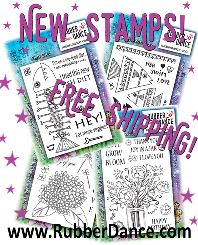 Its Bibi The Stamp Maker At Rubber Dance Here Check Out New Summer Stamps Im Releasing Today