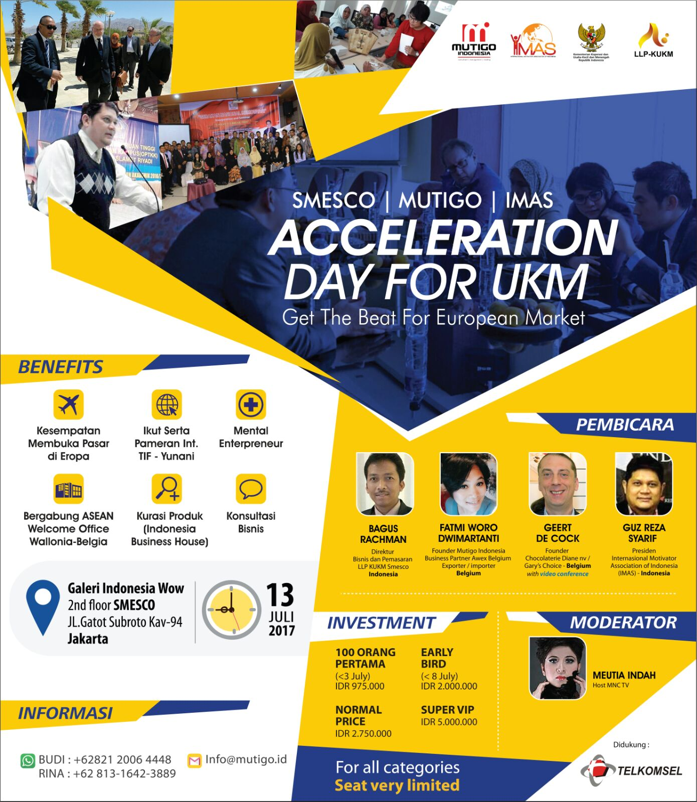 Agenda Event: Acceleration Day for UKM ~ Get The Beat for European Market