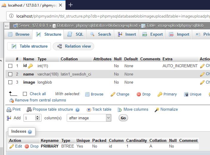 Tutorials: How To upload BLOB Image To Mysql Database Using