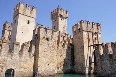 Medieval town Garda lake