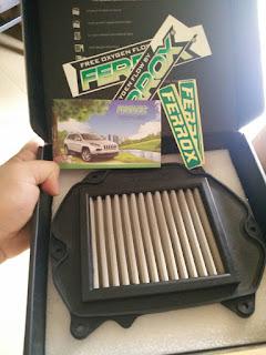 filter buat motor, brosurnya mobil
