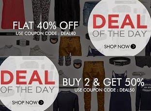 Myntra: Buy 1 Get 40% Off   Buy 2 Get 50% Off   Buy 3 Get 55% Off (Free Shipping for New Customers on All Orders)