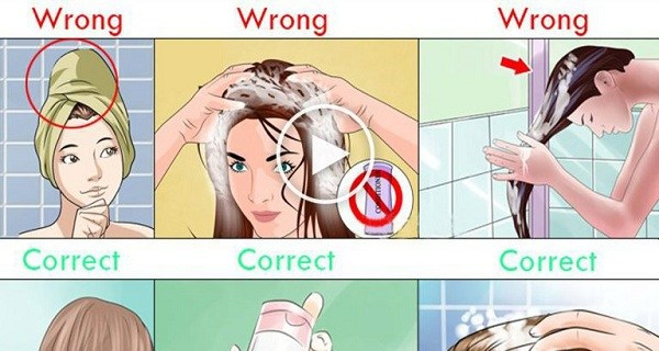 correct way of shampoo washing your hair