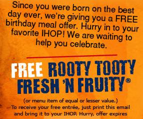 A Savvy Life: A Savvy Birthday Freebie - Ihop