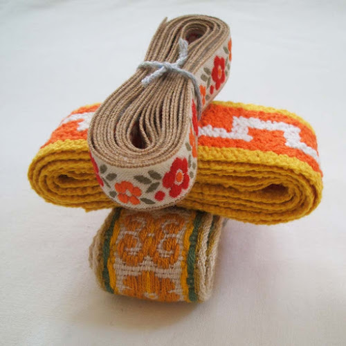 pouch vintage stack of vintage trim and ribbon in etsy store
