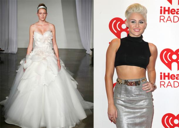 Miley Cyrus Wedding Dress.Revealed Out Miley Cyrus Wedding Dress Popular Hairstyles 2013