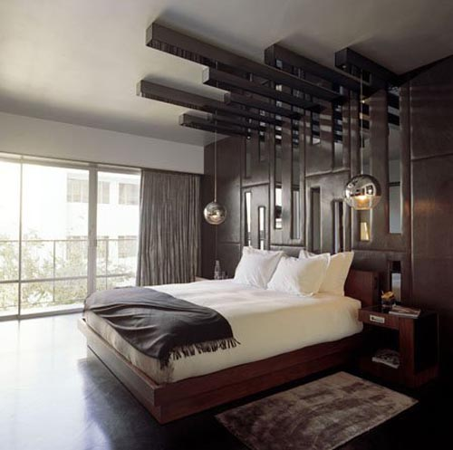 Masculine Master Bedroom: Interior Decorations Design Of Hotel Room