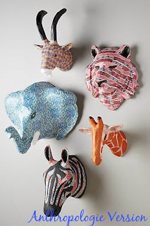 How to make your own plains bust traveler elephant from Anthropologie
