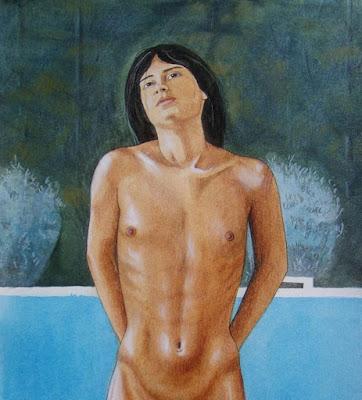 Dionysos, danse nu, étoile, danse, Shiva, Andrea, garçon androgyne, garçon nu, Shiva Nataraja,