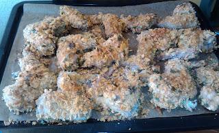 La Cocinera novata_CRUJIENTES ALITAS DE POLLO AL HORNO REBOZADAS EN CORNFLAKES RECETA AVES parmesano copos de maiz cereales