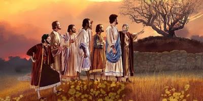 imagem de Jesus conversando