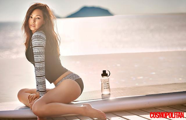 Hot girls Honey Lee sexy Miss Korean at Koh Samui Beach 4