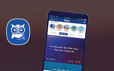 تحميل تطبيق التواصل الأجتماعي السري الجديد Youz