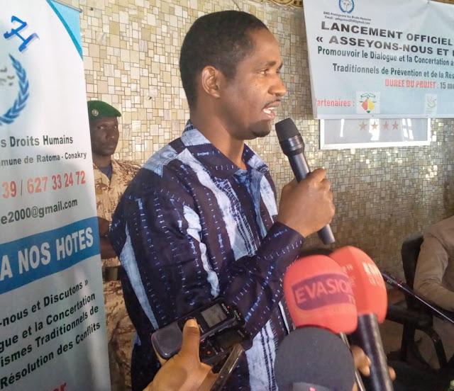 Monsieur Mouctar Diallo Ministre de la Jeunesse et de l'Emploi des Jeunes appelle