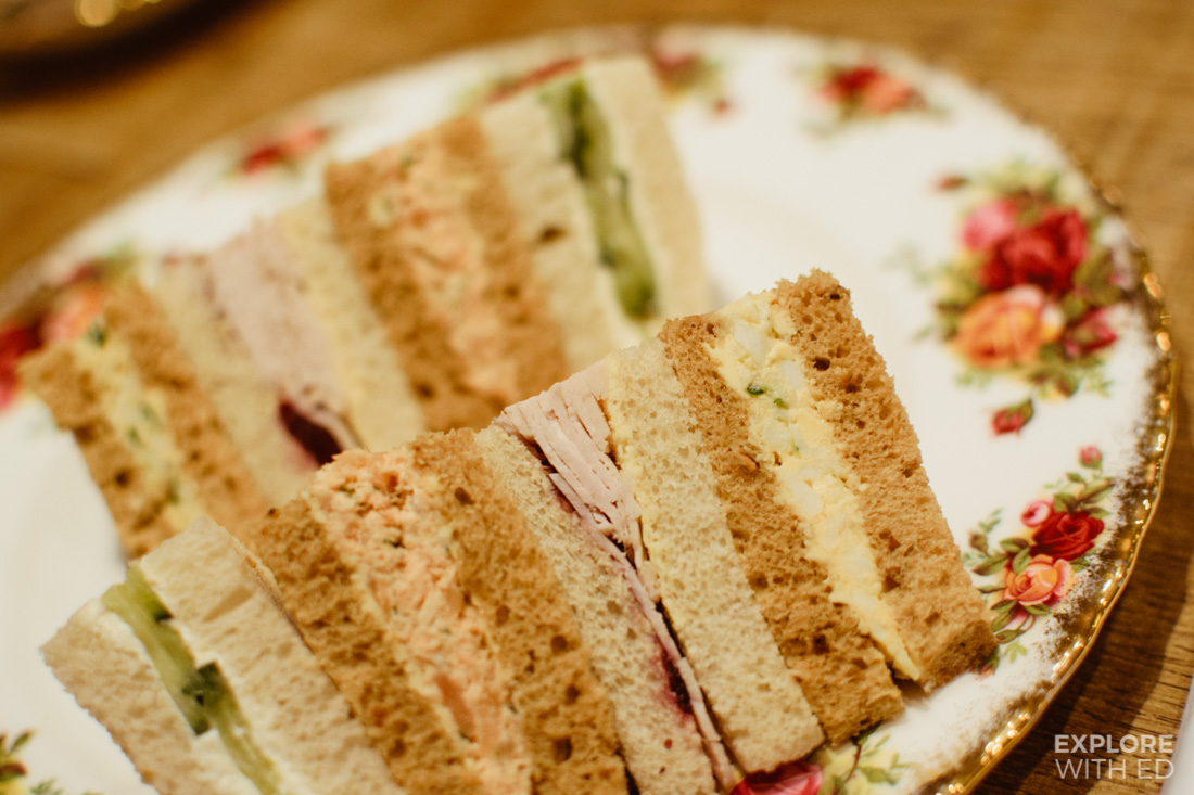 Finger sandwiches, Afternoon Tea at The Angel Hotel