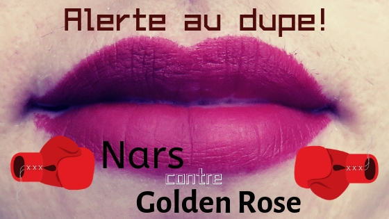 Velvet Matte Lip Pencil de Nars et Matte Lipstick Crayon de Golden Rose, des dupes parfaits?!
