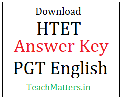 image : Download HTET PGT English Answer Key 2019 @ TeachMatters