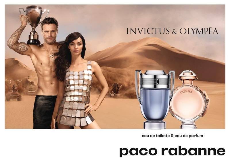 Luma Grothe and Nick Youngquest star in Paco Rabanne Invictus & Olympea fragrance campaign